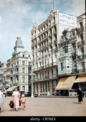 Littoral Hotel, Ostend, Belgium, 1936 - Stock Image