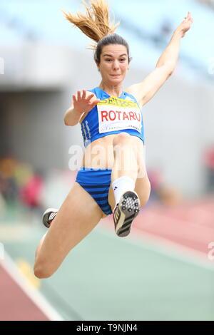 Osaka, Japan. 19th May, 2019. Alina Rotaru Athletics : IAAF World Challenge Seiko Golden Grand Prix 2019 Osaka Women's Long Jump Final at Yanmar Stadium Nagai in Osaka, Japan . Credit: Naoki Nishimura/AFLO SPORT/Alamy Live News - Stock Image