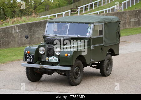 Land Rover Series1 (1953), British Marques Day, 28 April 2019, Brooklands Museum, Weybridge, Surrey, England, Great Britain, UK, Europe - Stock Image