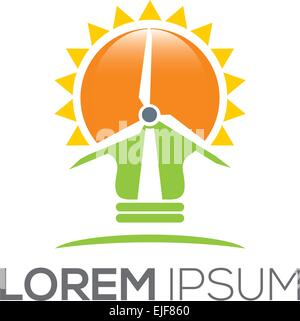 Vector Renewable Energy - Stock Image