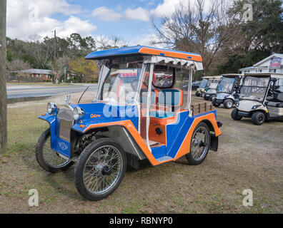 Selling unique go-karts in North Florida near Gainesville, Florida. - Stock Image