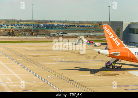A view at Luto Airport in the UK - Stock Image