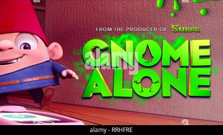 GNOME ALONE, MOVIE POSTER, 2017 - Stock Image