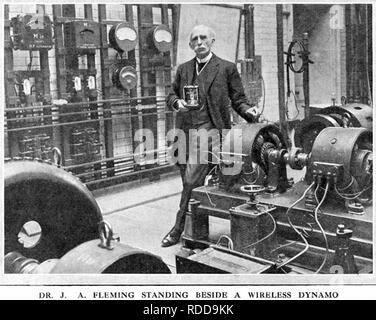 JOHN AMBROSE FLEMING (1849-1945) English electrical engineer. - Stock Image