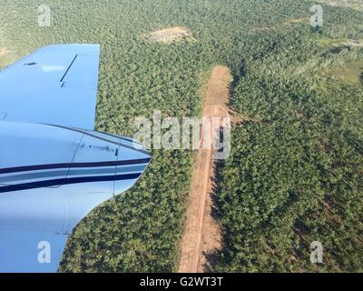 An airstrip in the middle of the Outback (a.k.a.the bush) at Mount Borradaile in West Arnhem Land, Northern Territory, - Stock Image