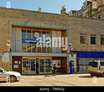 INVERNESS CITY SCOTLAND CENTRAL CITY SCOTRAIL RAILWAY STATION - Stock Image