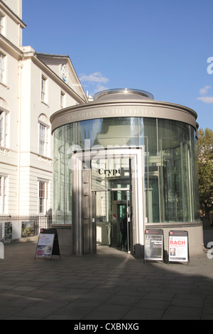 Entrance to Crypt Cafe St Martin in the Fields Church London - Stock Image