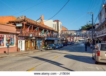 Cannery Row, Monterey, California - Stock Image