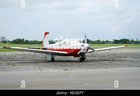 Light private airplane - Stock Image