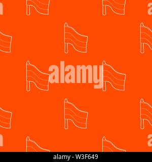 Flag pattern vector orange - Stock Image