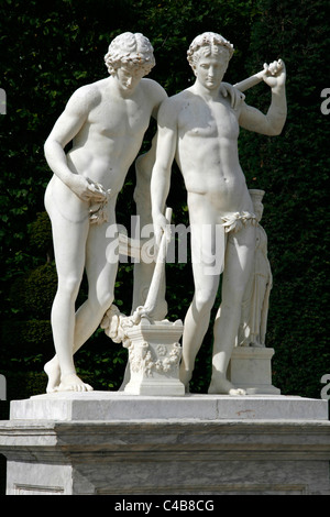 Statue in Park of Versailles, France - Stock Image