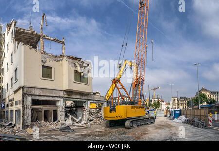 demolition Hotel Koenigshof, Munich, Bavaria, Germany - Stock Image