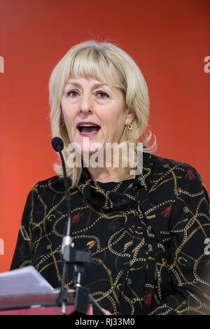 Jenny Formby, General Secretary of the Labour Party, speaking at the East Midlands Labour Party conference 2019. - Stock Image