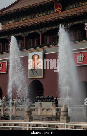 Portrait of Mao, Beijing, China - Stock Image