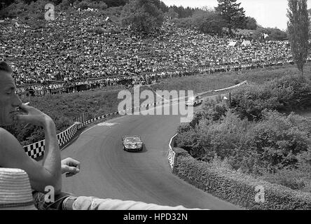 1967 Edward Nelson GB Ford GT40 Nurburgring 1000Ks dnf - Stock Image