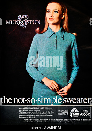 1960s Nova Magazine October 1968 Advertisement for Munrospun fashion FOR EDITORIAL USE ONLY - Stock Image