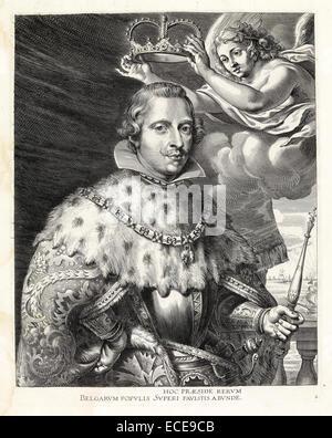 Portrait of Philip IV of Spain - Stock Image