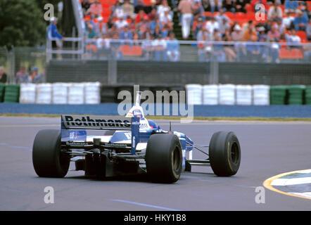 1996 Jacques Villeneuve Canadian Williams FW18 Adelaide Australian GP 2nd FL - Stock Image