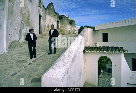 Spain Andalucia Pueblo blanco Vejer de la Frontera local people - Stock Image
