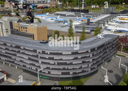 Tourists visit Miniature park and tourist attraction Madurodam in Hague in the Netherland, May 7, 2019. It is home to a range of 1:25 scale model repl - Stock Image