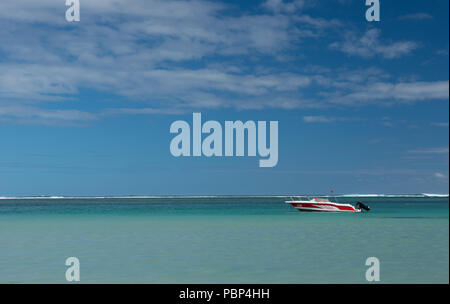 boat in paradise - Stock Image