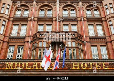 The Midland Hotel, Manchester, England, United Kingdom - Stock Image
