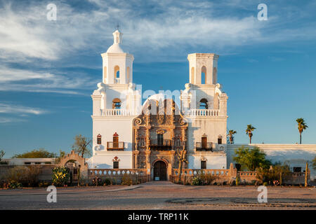 San Xavier del Bac Mission (founded 1700, current structure 1797), Tucson, Arizona USA - Stock Image