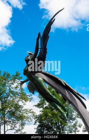 Phoenix statue in Medellin, Colombia - Stock Image