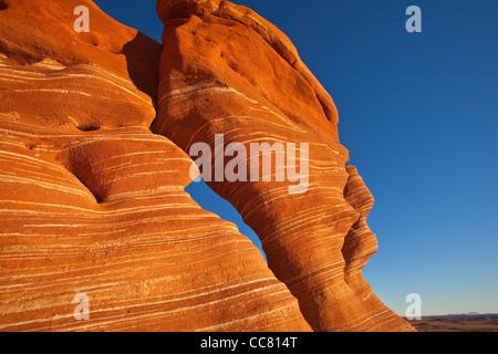 Sandstone, hoodoos, rock formations, of Ward Terrace, Navajo Nation, Coconino County, Arizona, USA - Stock Image