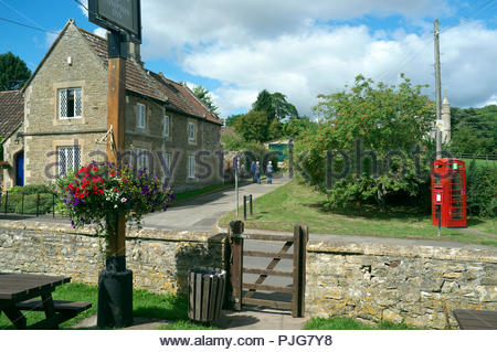 Compton Dando - view in the village near Bristol, in Bath & North East Somerset, UK. (seen from the Compton Inn garden). - Stock Image