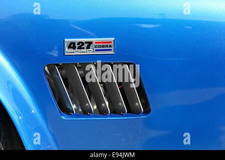 1966 Ford Shelby Cobra 427 emblem - Stock Image