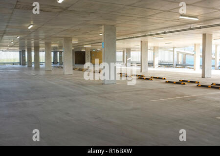 Empty undercover parking. - Stock Image