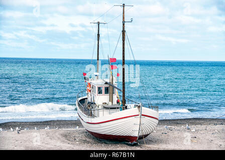 Fishing boat in Denmark - Stock Image