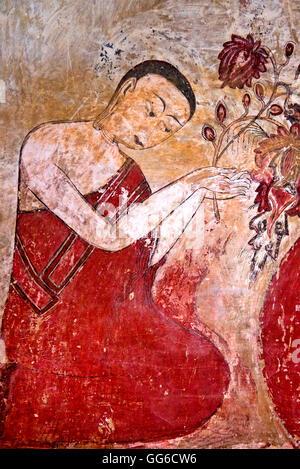 geography / travel, Myanmar, Bagan, Pagan, Sulamani temple, paintings, Arimaddana-pura, nominated for world cultural - Stock Image