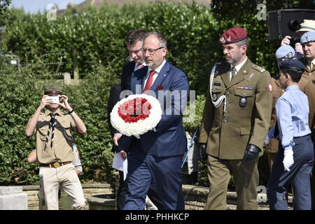 Northolt, London, UK. 1st September, 2018. The Annual Commemoration of Fallen Polish Airmen will take place on Saturday, 1st September 2018 at the Polish Air Force Memorial, Northolt. Credit: Marcin Libera/Alamy Live News - Stock Image