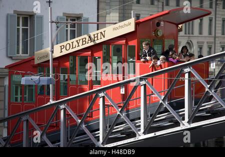 Switzerland, Zurich, polytrajectory, tourist, no model release, no property release, town, part town, city, polyterrace, - Stock Image
