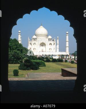 Taj Mahal Cameo from Archway, Rajasthan, India - Stock Image