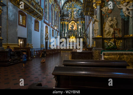 The interior of the basilica in the Sanctuary of Jasna Góra, Poland 2018. - Stock Image