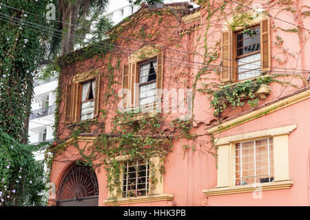 Typical Historical House Sao Paulo Brazil - Stock Image