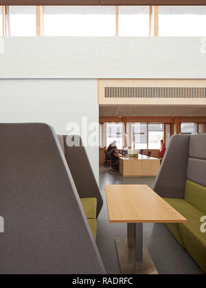 Detail in office space. The Enterprise Centre UEA, Norwich, United Kingdom. Architect: Architype Limited, 2015. - Stock Image
