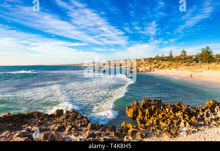 Trigg Beach on the coast of Perth's northern suburbs - Stock Image