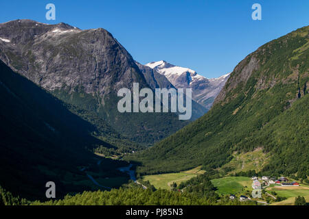 Norwegian landscape with mountains. - Stock Image