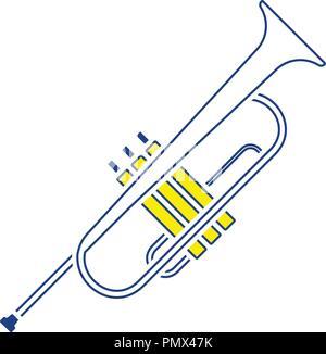 Horn icon. Thin line design. Vector illustration. - Stock Image