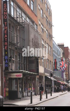 Soho Theatre Bar Dean Street London - Stock Image