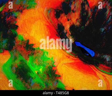 FINE ART: Lago Blu - Stock Image