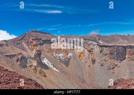 The highest point and volcanic vent of world famous Mount Fuji. Fuji is an active stratovolcano, highest mount in - Stock Image