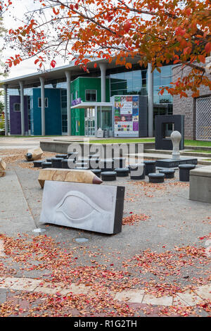 CHARLOTTE, NC, USA-11/08/18: ImaginOn is a collaborative venture of the Charlotte Mecklenburg Library and the Children's Theater. - Stock Image