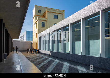 The golden building of the so-called Haunted House, Fondazione Prada, exterior, Milan, Italy - Stock Image