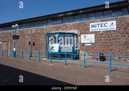 The Marine and Technology Centre (MITEC) located at Milford Haven Docks - Stock Image