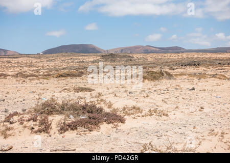 Majanicho Village at Fuerteventura on Canary Islands - Spain - Stock Image